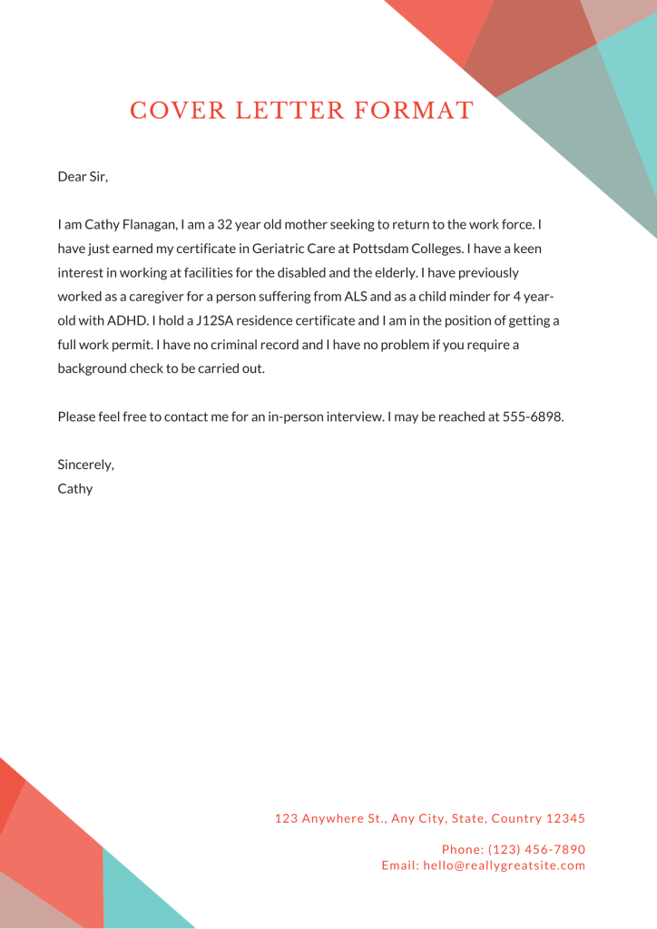 the image is a great example of job application letter email cover letter format