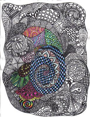 fractal pattern doodle from doodlerblog.com