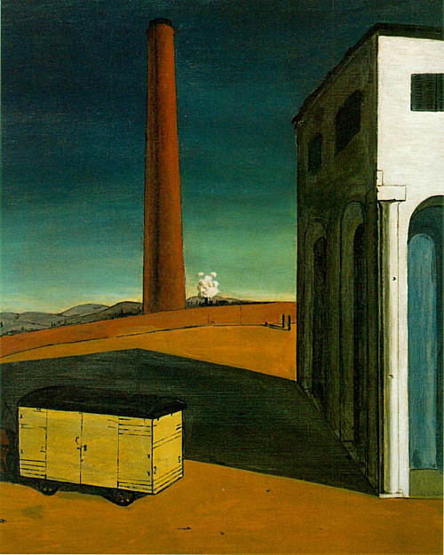 The Anguish of Departure, Giorgio de Chirico, 1914