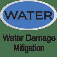 blue water damage mitigation icon