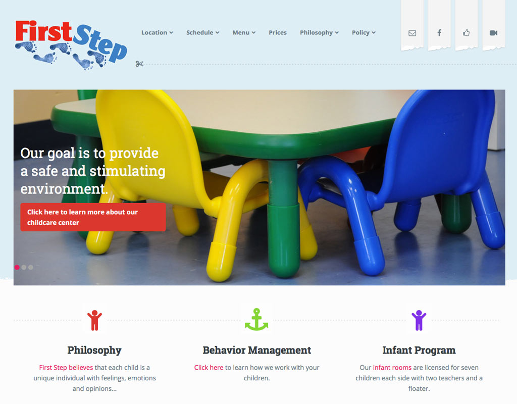 1st step childcare moves website to responsive design