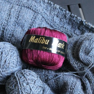 Ribbon yarn of unknown origin
