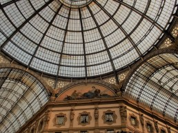 The ceiling of the covered gallery where Prada and Tiffany's are in Milan