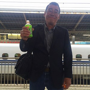 Hugh Burleson with his favorite drink on last year's trip / Photographer: Melanie Flint