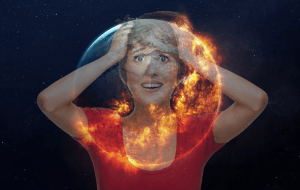 Woman and the Burning Earth