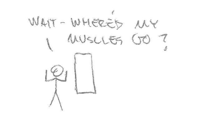Stick man can not see muscles