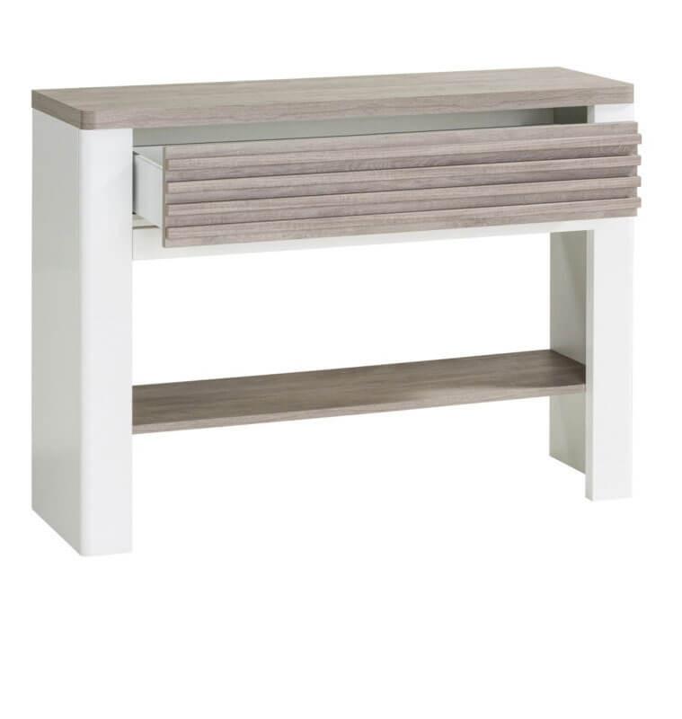 console vertigo gris chene et blanc