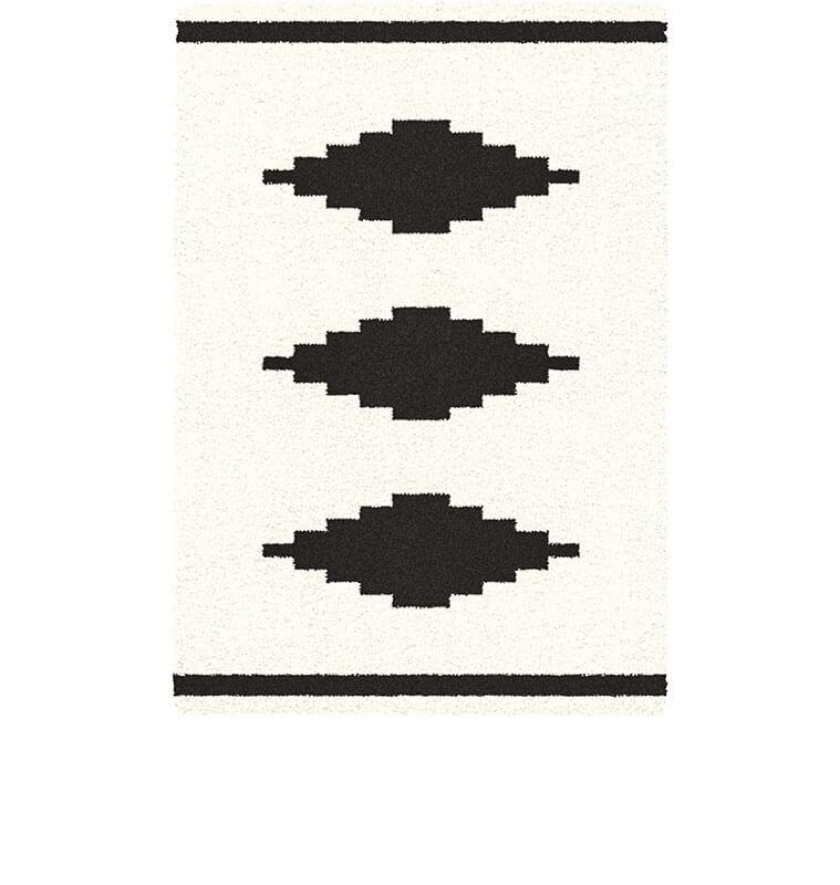 tapis 160x230cm beige noir