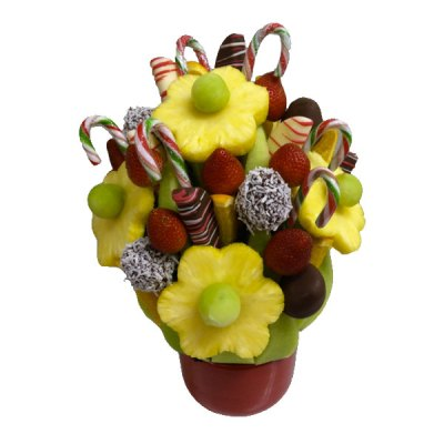 Candy Cane Lane Edible Bouquet - Orchard Berry Arrangements