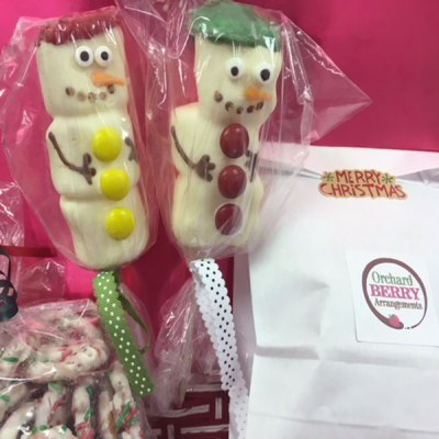 Edible Christmas Marshmallows - Orchard Berry Arrangements, Spruce Grove