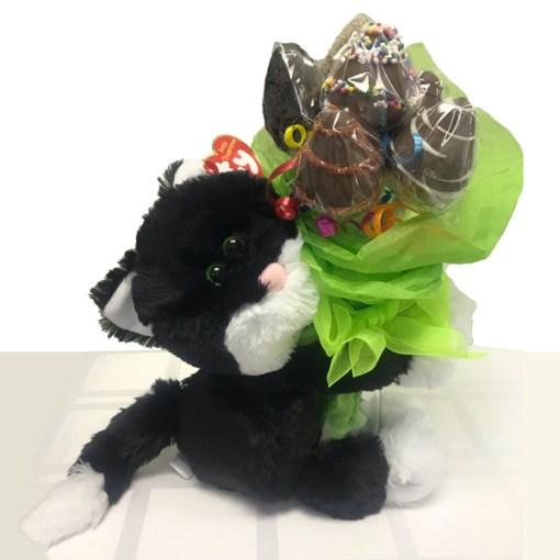 Cuddle Up Bouquet, Cat, Orchard Berry Arrangements, Spruce Grove