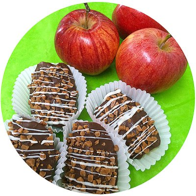Chocolate Apple Wedges