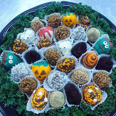 Halloween Dipped Fruit Tray - Orchard Berry Arrangements