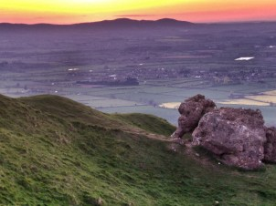View from Bredon Hill towards the Malverns