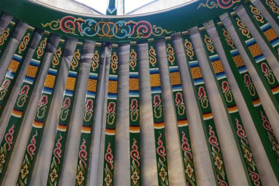 Handpainted roof poles