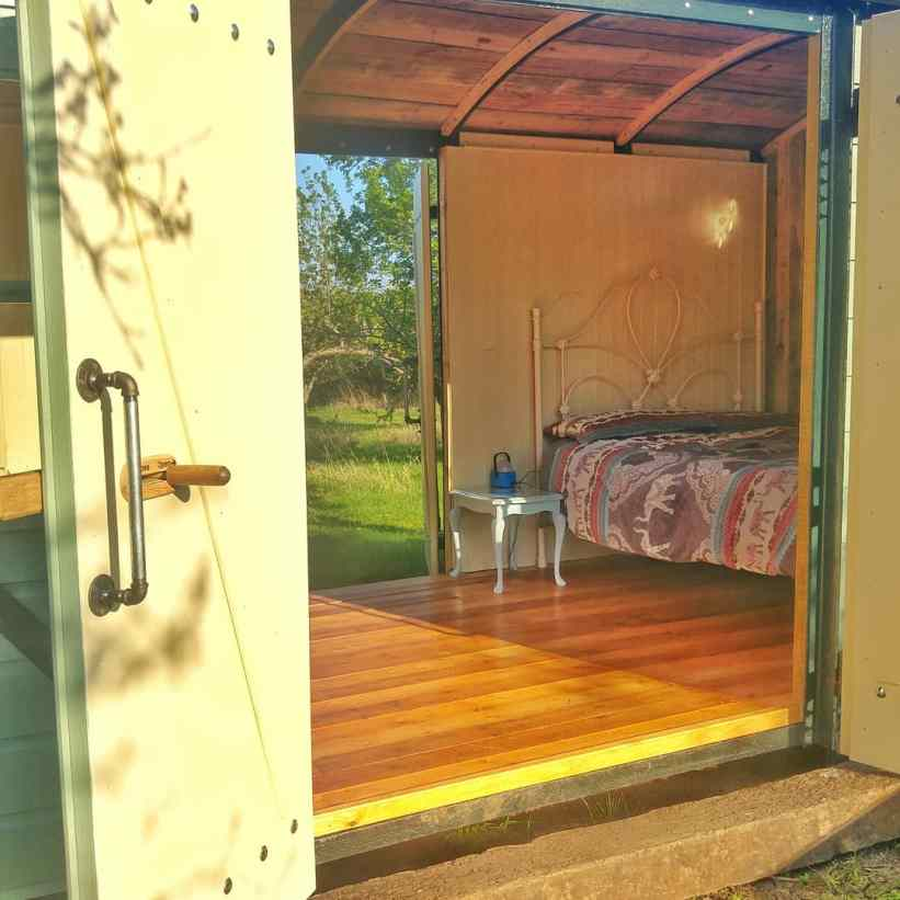 On a sunny day, both sets of doors can be open to let in the breeze.