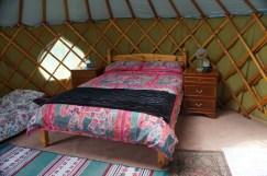 Inside Greengage Yurt