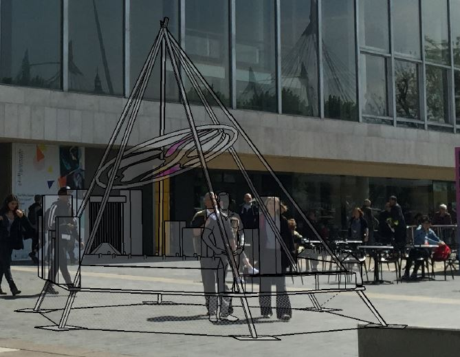 sculpture in location
