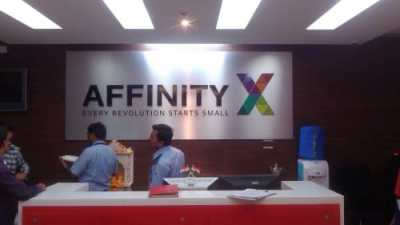 Affinity Express - 3D hollow acrylic + hard acrylic letters on ACP board with no lights