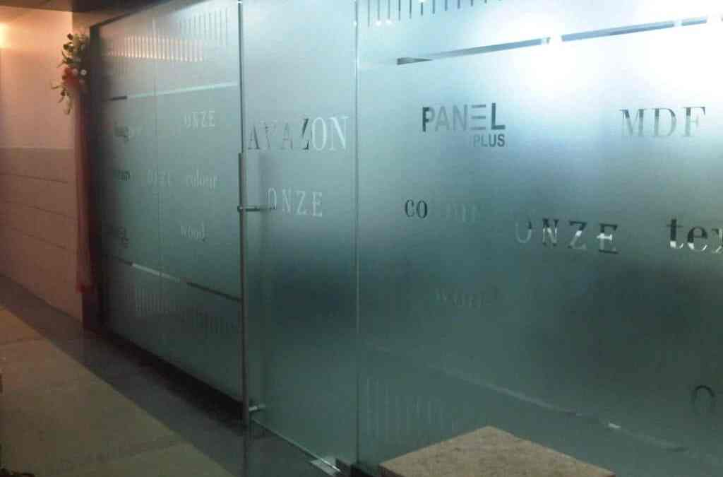 Frosted glass film as an alternative to etching