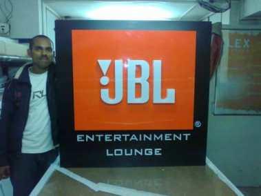 JBL 3 layer board ACP base acrylic base acrylic 3D letters
