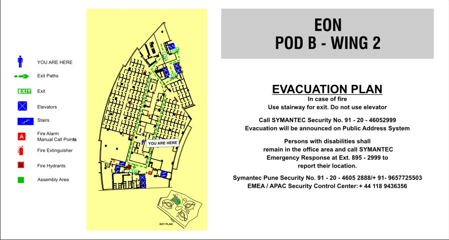 Fire evacuation map - safety signs