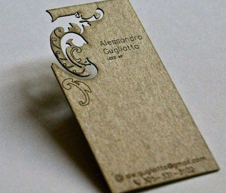 Laser cut visiting cards