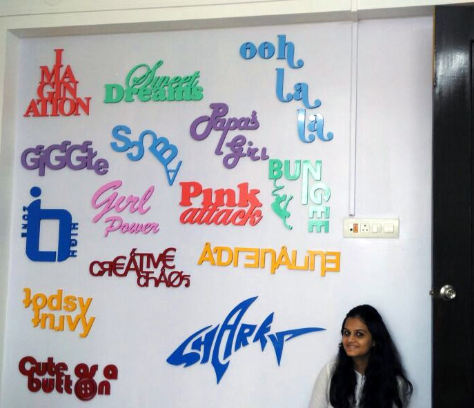 3D wall graffiti made of CNC cut letters to decorate a child's room