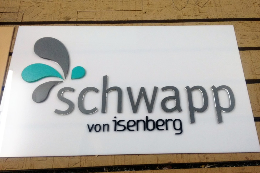 company logo made of laser cut acrylic