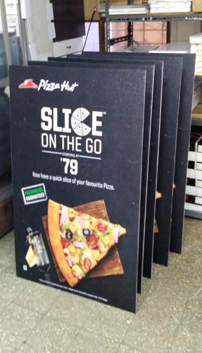 sunboard standee with laminated photo vinyl on top