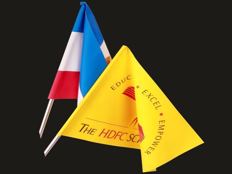 flag print on satin cloth