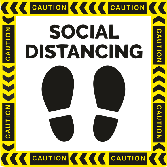 floor graphics png artwork for maintaining social distancing free for download