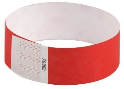 red colored wristbands