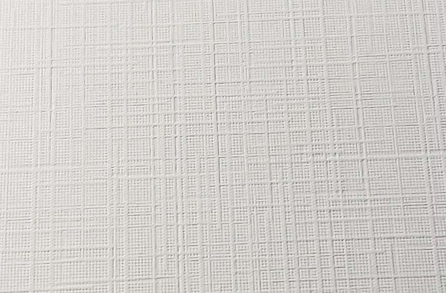 Image printed on a paper having a linen texture finish. The pattern looks very much like the weave on linen cloth