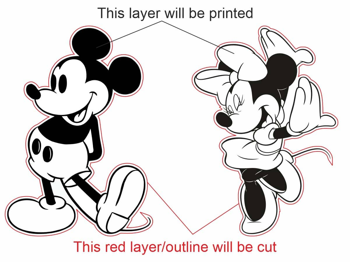 image showing two different layers in a print and cut job