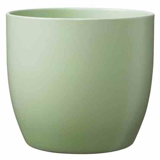 Basel Ceramic Orchid Pot Matte Lime Green (19cm)