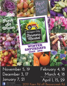 3 'winter' markets left, April, 1st, 15th and 29th. Main Season opens May 6th!