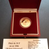 Pièce 10 Francs OR - Schumann 1986