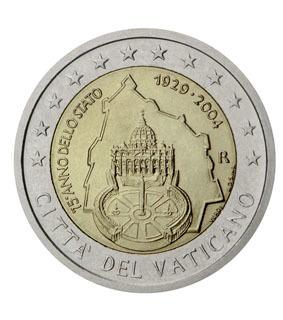 2€ du Vatican - or et compagnie