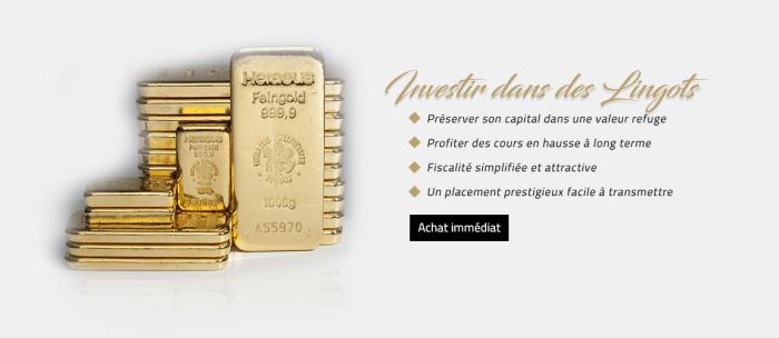 Investissez dans l'Or physique