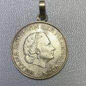 Piece Argent Pays bas en pendentif - Or et Compagnie