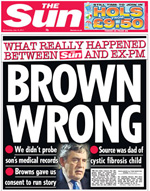 Sun Front Page - Brown Wrong