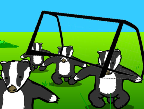 badger-goalposts