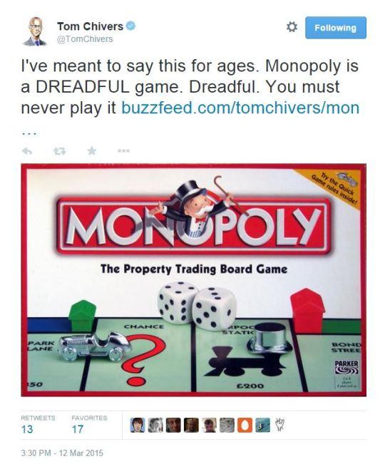 tom chivers monopoly tweet