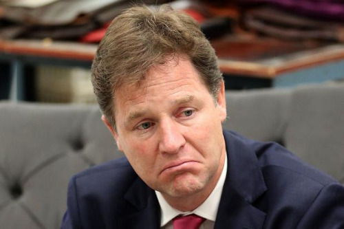 nick clegg sad