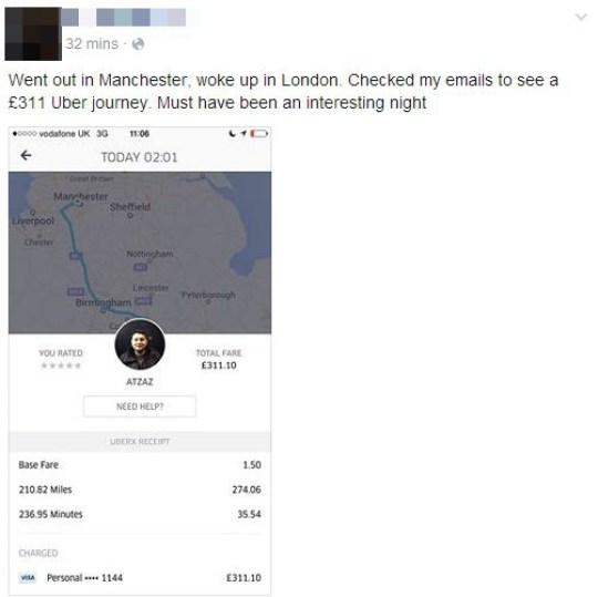 tory uber ride