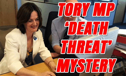 TORY MP DOCTORS CONSTITUENT'S EMAIL ADDING 'DEATH THREAT'