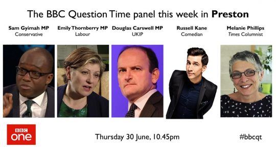 Who is on Question Time Tonight - Guido Fawkes