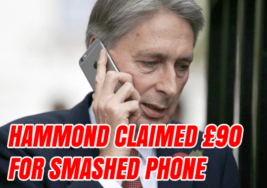 Millionaire Hammond Claimed £90 For Smashed Phone