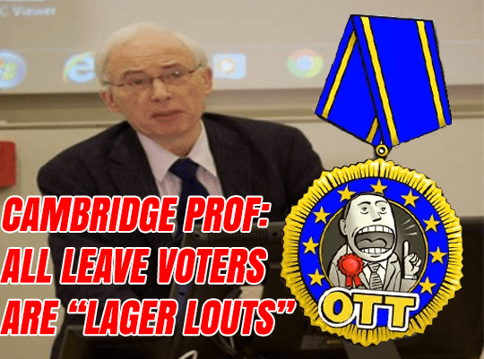 "New European: Leave Voters ""Lager Louts"""